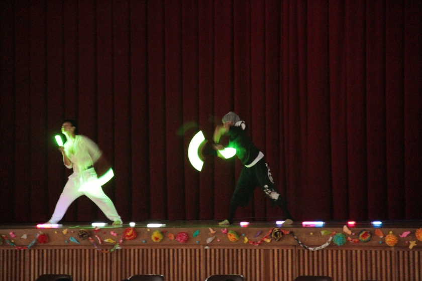 dancing during the talent show