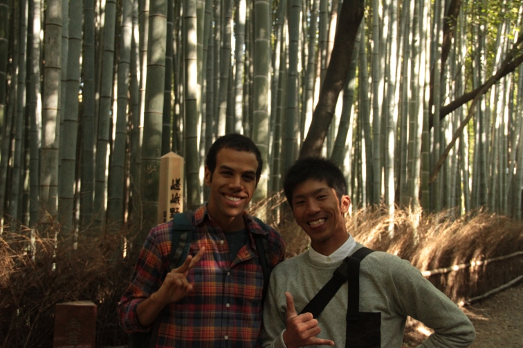 Pose at the Bamboo Forest