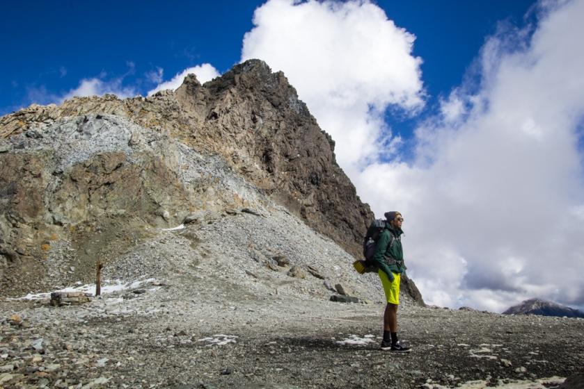 Standing by Mt Yari