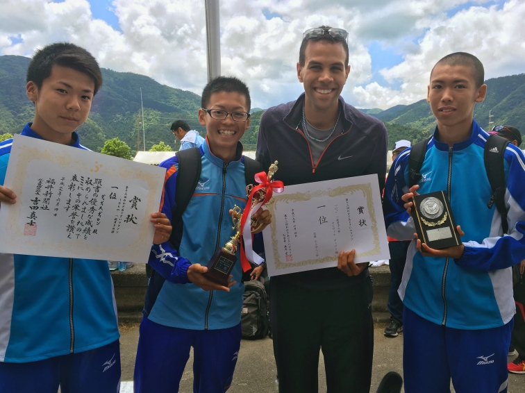 dillon with mikata high school runners and awards